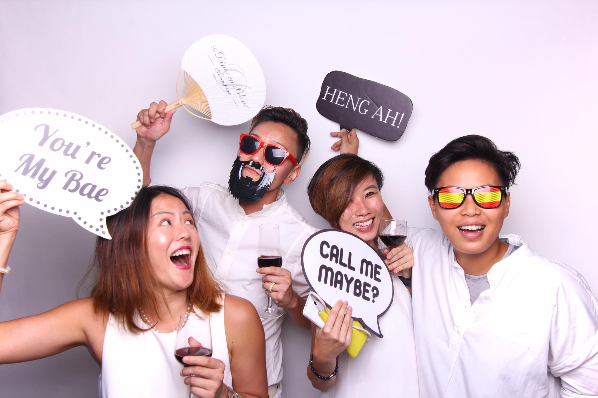 Cheers to Friday and Friendship - Fourstops Photography · Singapore Photobooth