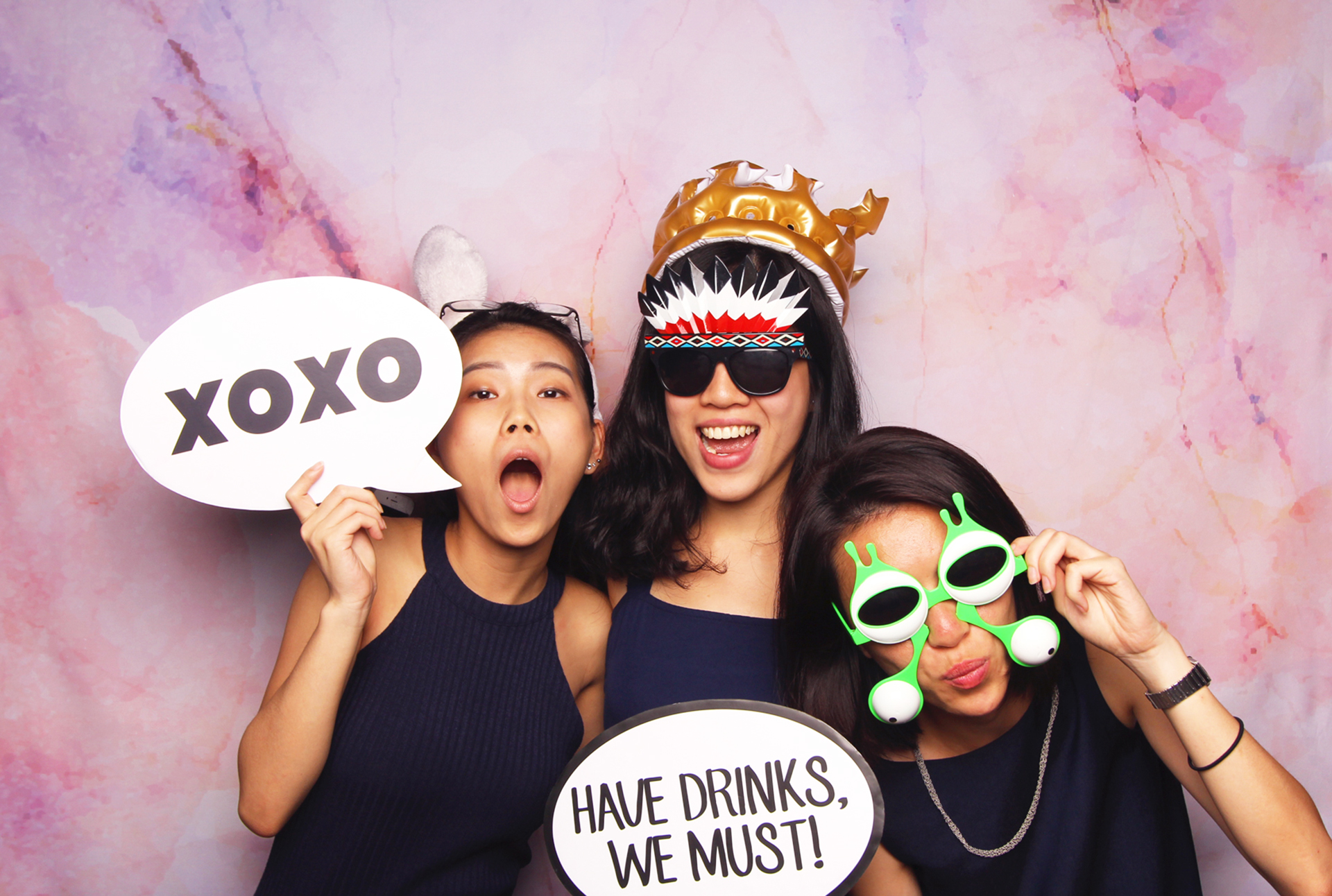 Fourstops Photography • Singapore Photobooth • Pink Marble