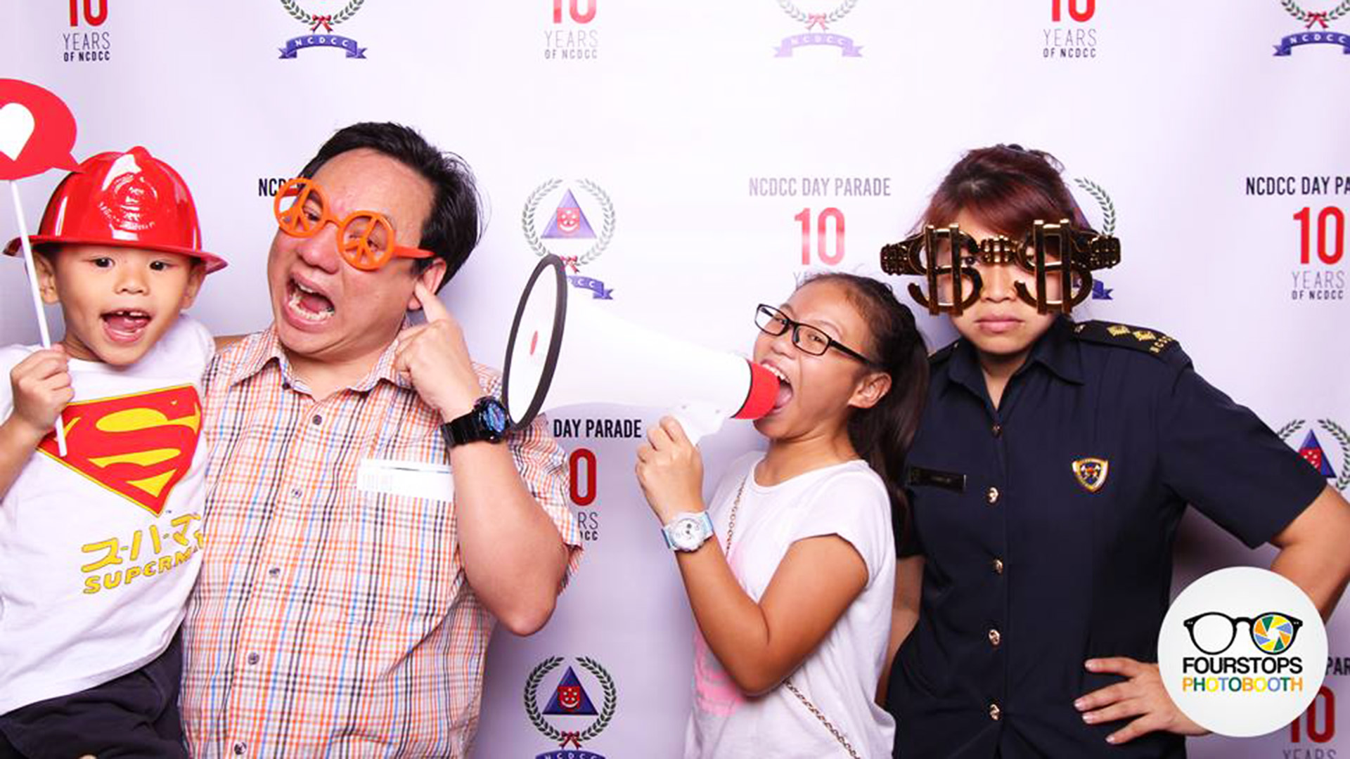 Fourstops • Singapore Photobooth • NCDCC 10th Anniversary Parade