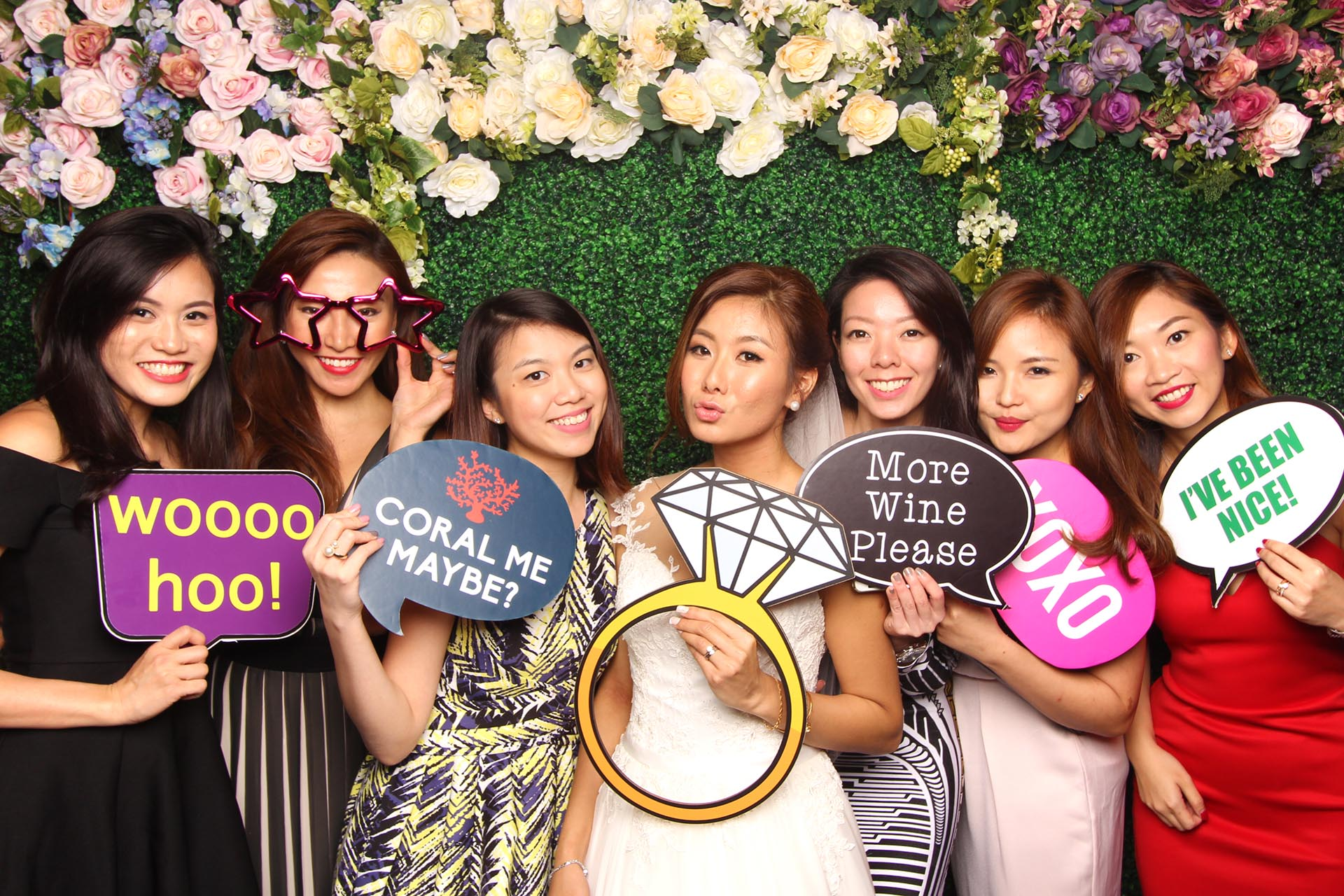 Fourstops Photography • Singapore Photobooth • Floral Backdrop