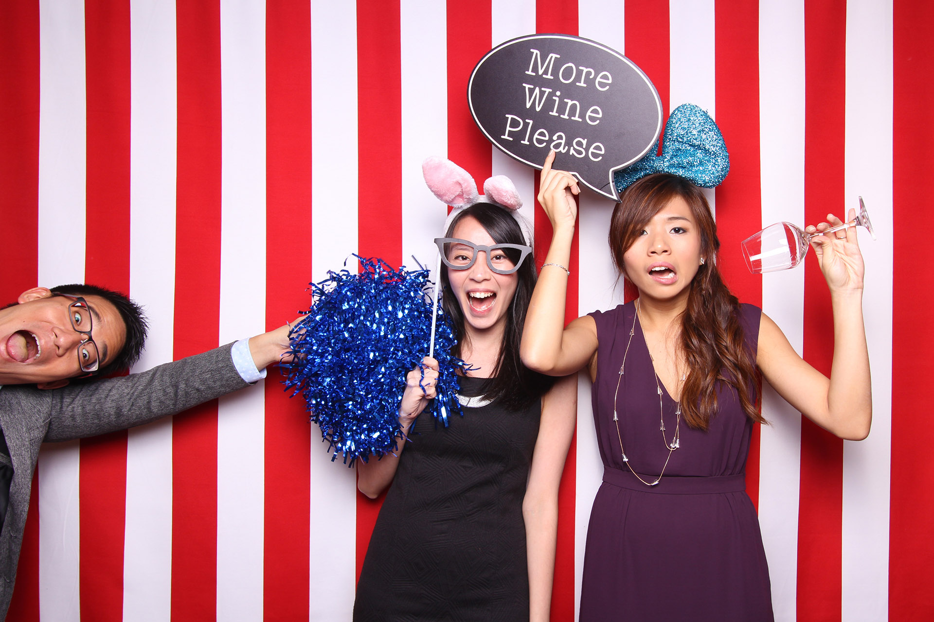 Fourstops • Singapore Photobooth • Red White Backdrop