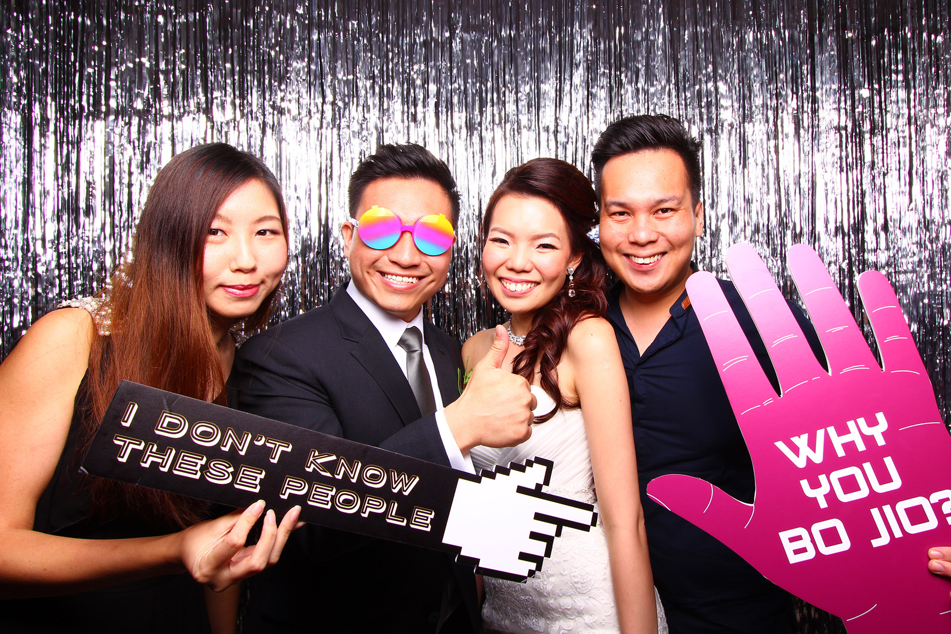 Fourstops • Singapore Photobooth • Silver Glitter Backdrop